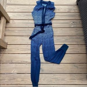 YFB Ramona Belted Indigo Ombré Jumpsuit